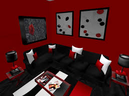 clouds black and red furniture