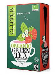 Чай Зеленый с клубникой Органик (20 пак) (Clipper, Зеленый чай ...