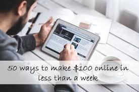 21 Ways To Make Money Online: $100 Next Week In 2017