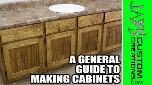 guide making kitchen: a general guide to making cabinets a visual guide