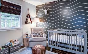 bold graphic wall baby furniture rustic entertaining modern baby