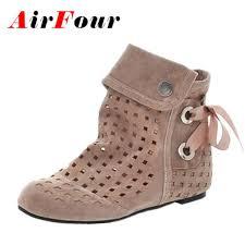 <b>Airfour Women Summer</b> Boots Big Size 34 43 <b>New</b> Fashion Hidden ...