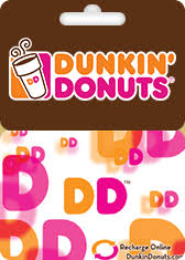 Free Generated Dunkin Donuts gift card for giveaway