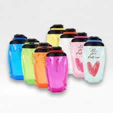 Складная эко <b>бутылка для воды VITDAM</b> с карабином - «Удобная ...