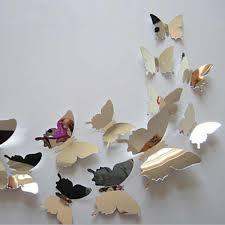 12Pcs/<b>set</b> 3D Butterflies on The Wall Stickers Bedroom Decals Diy ...