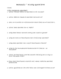 beowulf literary terms and study guide questions for handout andbeowulf  study questions