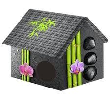 «<b>Домик PerseiLine</b> Дизайн Бамбук для кошек и собак *33*40 см ...
