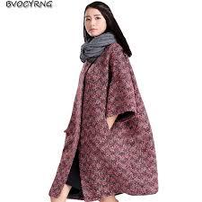 Autumn and <b>Winter</b> Cloak <b>Woolen Coat</b> Female Long Korea Loose ...