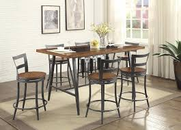 tabacon counter height dining table wine:  pc homelegance vino collection counter height dining table with wine storage