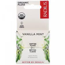 Органическая <b>зубная нить</b>, ванильная мята, <b>Organic Floss</b>, Vanilla ...