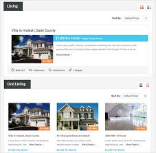 real homes wordpress real estate theme by inspirythemes list and grid layout