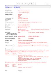 preparing a cv resume tk category curriculum vitae