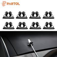 Partol 8Pcs/<b>Lot Car Wire Cable</b> Holder Wire Tie Clip Fixer Organizer ...