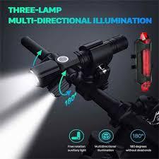 <b>T6 L2LED</b> Aluminum Alloy <b>Multifunction</b> Flashlight Three Lamp ...