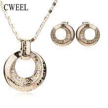 Cweel moda conjuntos de jóias para as <b>mulheres</b> meninas colar ...