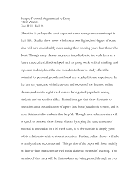 proposal essays argumentative essay template