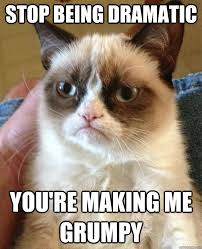 stop being dramatic you're making me grumpy - Grumpy Cat - quickmeme via Relatably.com