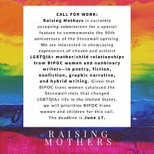 Raising <b>Mother</b> Is Seeking Submissions <b>to Commemorate</b> ...