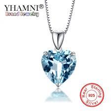 Wholesale YHAMNI <b>100</b>% 925 Solid Silver <b>Ocean Heart Pendant</b> ...