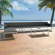 vidaXL 5 Piece Garden Lounge Set Textilene ... - Amazon.com