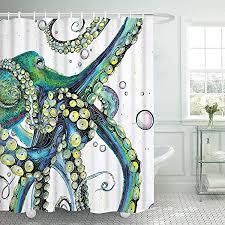 Amazon.com: Lifeasy Ocean Kraken Red Octopus Shower Curtain ...