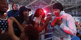 Ibtihaj Muhammad, U.S. <b>Women's</b> Fencing Team Win Bronze in <b>Saber</b>