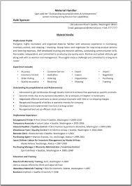 material handler resume examples resume examples  material handler resume examples