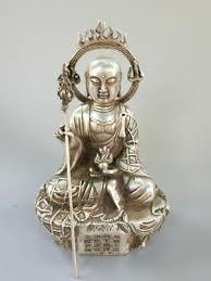 Chinese <b>exquisite Tibetan</b> silver <b>Copper</b> tang SAN <b>Tibet</b> Buddha ...
