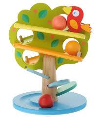 "«Игрушка <b>Djeco</b> ""<b>Кугельбан Дерево</b>"" выполнена в виде деревца с ..."