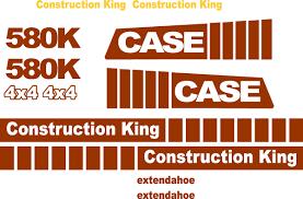 similiar case 580k decals keywords case 580k extendahoe new replacement decal kit