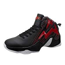 Men's Lace Up High Top <b>Basketball</b> Shoes Breathable Mesh ...
