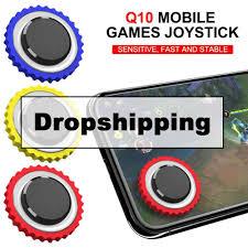 Q10 Mobile <b>Games Joystick Round Game Joystick</b> Screen Sucker ...