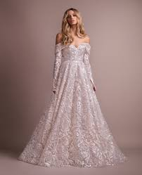 Lace Wedding Dress With Removable <b>Off The Shoulder Long</b> Sleeves
