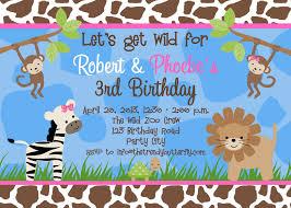 photo birthday invitations jungle 1st birthday party monkey girls printable birthday invites