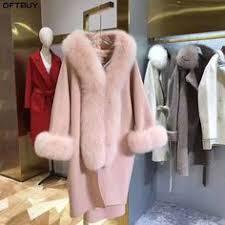 <b>FURSARCAR Real</b> brown mink fur jacket with amber fox hood ...