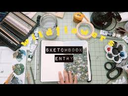 WILDFLOWERS ON MY MIND // <b>Sketchbook</b> Entry - YouTube