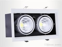 <b>4Pcs lot</b> double <b>led grille</b> light 2*<b>15w led</b> ceiling down light Warm ...