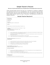 free resume templates for teachers teacher resume templates