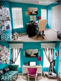 room cute blue ideas: cute office makeover at the decor diaries by scarlett lillian tiffany blue black and white for the office guest bedroom with a hint of pink