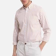 <b>Рубашка</b>-слим с длинными рукавами в <b>полоску</b> в <b>полоску</b> белый ...