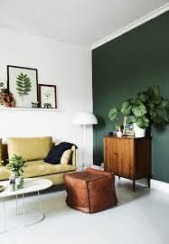 green living room theme modern