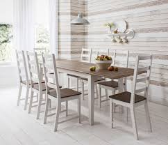chunky dining table and chairs  seat dining table exclusive room furniture seats ideas