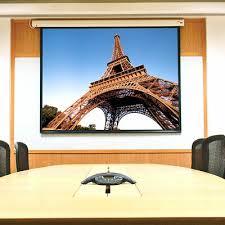 <b>Baronet</b> White Electric Projection Screen <b>Draper</b> SizeFormat <b>HDTV</b> ...