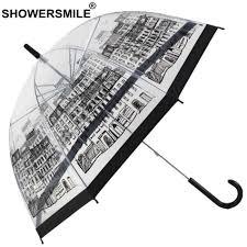 <b>SHOWERSMILE</b> British Style Apollo <b>Transparent Umbrella</b> Ladies ...