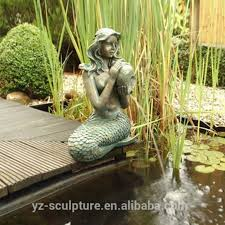 China Garden Outdoor <b>Large Size Bronze</b> Mermaid Fountain for ...