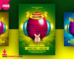 fashion and shopping promotional flyer psd psd com 03 colors happy easter flyer psd