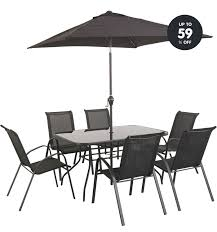 patio table and 6 chairs: dining table and  chairs argos home decor