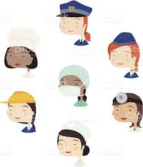 head and shoulder profile professional people w avatar stock head and shoulder profile professional people w avatar royalty stock vector art