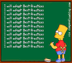 "Bart Simpson writing ""I will adopt Best Practices"" on the blackboard - everyone should adopt best practices when dealing with Vulnerable Consumers"