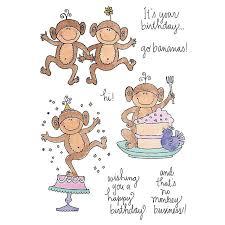 <b>Eastshape Monkeys</b> Celebration Metal Cutting <b>Dies</b> Happy Birthday ...